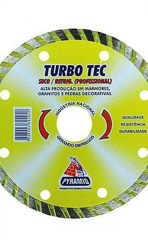Disco diamantado turbo