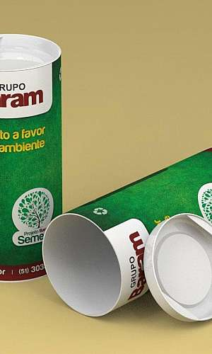 Embalagem cilíndrica de papelão