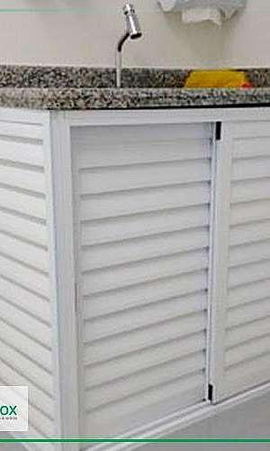 Porta de alumínio branco